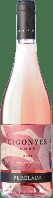8,95 € Free Shipping | Rosé wine Perelada Cigonyes Rosé D.O. Empordà Catalonia Spain Merlot, Grenache Bottle 75 cl