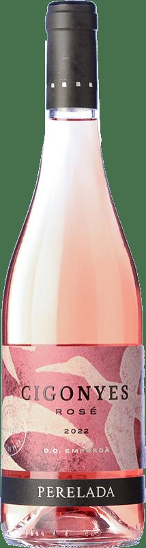 7,95 € Free Shipping | Rosé wine Perelada Cigonyes Rosé D.O. Empordà Catalonia Spain Merlot, Grenache Bottle 75 cl