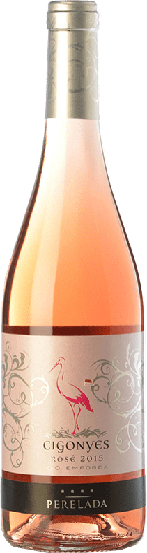 7,95 € Envío gratis | Vino rosado Perelada Cigonyes Rosé D.O. Empordà Cataluña España Merlot, Garnacha Botella 75 cl