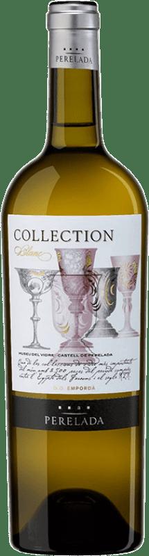 12,95 € Free Shipping | White wine Perelada Collection Blanc Crianza D.O. Empordà Catalonia Spain Chardonnay, Sauvignon White Bottle 75 cl