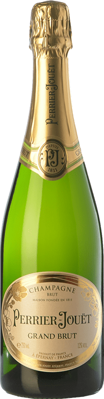47,95 € Free Shipping | White sparkling Perrier-Jouët Grand Brut Reserva A.O.C. Champagne Champagne France Pinot Black, Chardonnay, Pinot Meunier Bottle 75 cl