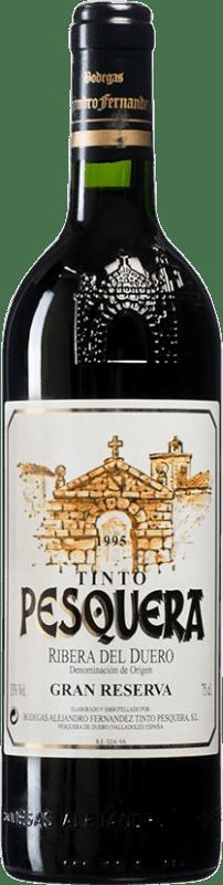 93,95 € Envío gratis | Vino tinto Pesquera Gran Reserva 1995 D.O. Ribera del Duero Castilla y León España Tempranillo Botella 75 cl
