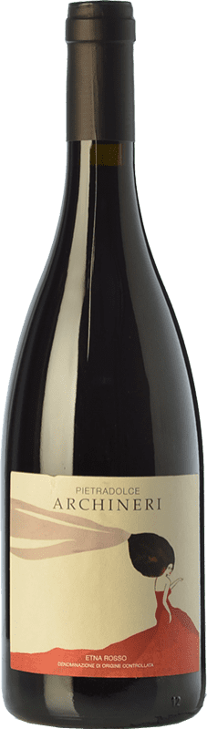 38,95 € Free Shipping | Red wine Pietradolce Archineri Rosso D.O.C. Etna Sicily Italy Nerello Mascalese Bottle 75 cl