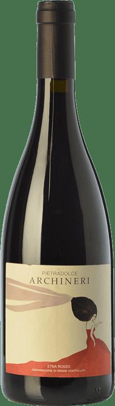 38,95 € Envío gratis | Vino tinto Pietradolce Archineri Rosso D.O.C. Etna Sicilia Italia Nerello Mascalese Botella 75 cl