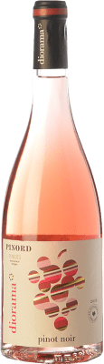 9,95 € Free Shipping | Rosé wine Pinord Diorama D.O. Penedès Catalonia Spain Pinot Black Bottle 75 cl
