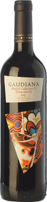 4,95 € Free Shipping | Red wine Pinord Gaudiana Tempranillo Joven D.O. Catalunya Catalonia Spain Tempranillo, Merlot, Cabernet Sauvignon Bottle 75 cl