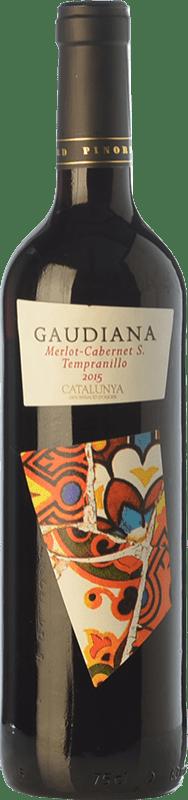 4,95 € Free Shipping | Red wine Pinord Gaudiana Tempranillo Joven D.O. Catalunya Catalonia Spain Tempranillo, Merlot, Cabernet Sauvignon Bottle 75 cl