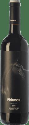 8,95 € Free Shipping | Red wine Pirineos Merlot-Syrah Joven D.O. Somontano Aragon Spain Merlot, Syrah Bottle 75 cl