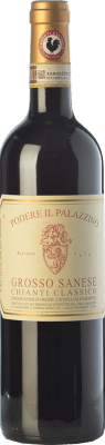 36,95 € Free Shipping | Red wine Il Palazzino Grosso Sanese D.O.C.G. Chianti Classico Tuscany Italy Sangiovese Bottle 75 cl