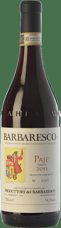 53,95 € Envío gratis | Vino tinto Produttori del Barbaresco Pajè D.O.C.G. Barbaresco Piemonte Italia Nebbiolo Botella 75 cl