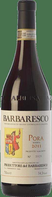 53,95 € Envío gratis | Vino tinto Produttori del Barbaresco Pora D.O.C.G. Barbaresco Piemonte Italia Nebbiolo Botella 75 cl