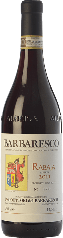 42,95 € Envío gratis | Vino tinto Produttori del Barbaresco Rabajà D.O.C.G. Barbaresco Piemonte Italia Nebbiolo Botella 75 cl