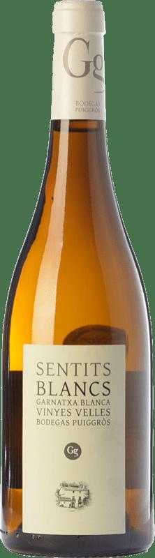 24,95 € Free Shipping | White wine Puiggròs Sentits Blancs Crianza D.O. Catalunya Catalonia Spain Grenache White Bottle 75 cl