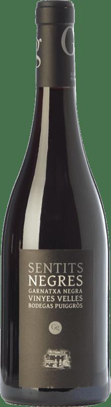 21,95 € Free Shipping | Red wine Puiggròs Sentits Negres Negra Crianza D.O. Catalunya Catalonia Spain Grenache Bottle 75 cl