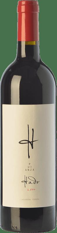 27,95 € Envío gratis | Vino tinto Pujanza Hado Crianza D.O.Ca. Rioja La Rioja España Tempranillo Botella Mágnum 1,5 L
