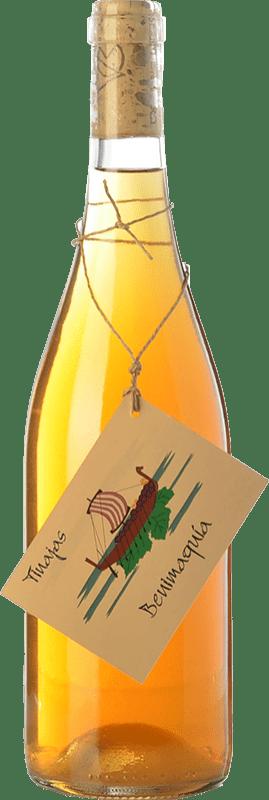 11,95 € Free Shipping | White wine Bernabé Benimaquía Tinajas Crianza D.O. Alicante Valencian Community Spain Muscatel, Merseguera Bottle 75 cl