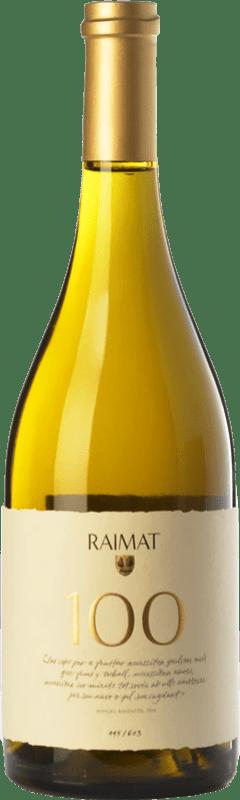 38,95 € Envoi gratuit | Vin blanc Raimat 100 D.O. Costers del Segre Catalogne Espagne Xarel·lo, Chardonnay Bouteille 75 cl