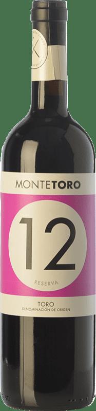 13,95 € Envío gratis | Vino tinto Ramón Ramos Monte Toro Reserva D.O. Toro Castilla y León España Tinta de Toro Botella 75 cl