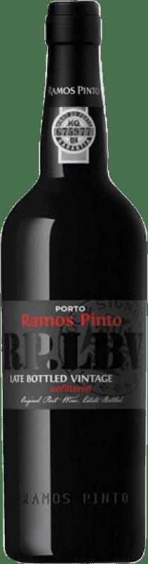 25,95 € Envío gratis | Vino generoso Ramos Pinto Late Bottled Vintage I.G. Porto Porto Portugal Touriga Nacional, Tinta Roriz, Tinta Barroca Botella 75 cl