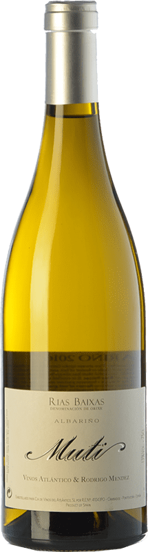 28,95 € Envio grátis | Vinho branco Raúl Pérez Muti Crianza D.O. Rías Baixas Galiza Espanha Albariño Garrafa 75 cl