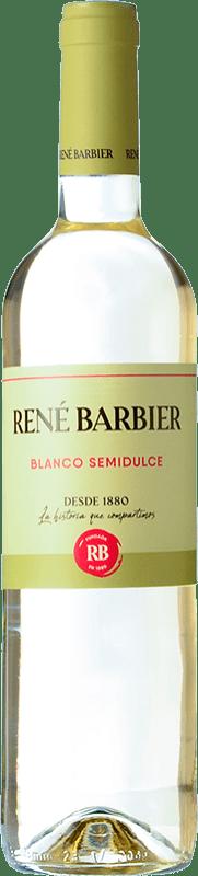 4,95 € Free Shipping | White wine René Barbier Viña Augusta Semi Dry Joven D.O. Catalunya Catalonia Spain Muscat of Alexandria, Macabeo, Xarel·lo, Parellada Bottle 75 cl