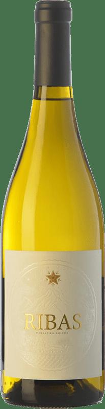 14,95 € Free Shipping | White wine Ribas Blanc I.G.P. Vi de la Terra de Mallorca Balearic Islands Spain Viognier, Premsal Bottle 75 cl