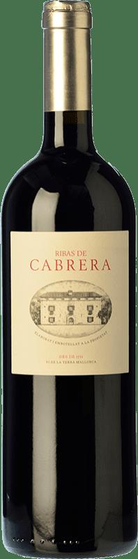 62,95 € Free Shipping | Red wine Ribas Cabrera Crianza I.G.P. Vi de la Terra de Mallorca Balearic Islands Spain Syrah, Cabernet Sauvignon, Mantonegro Bottle 75 cl