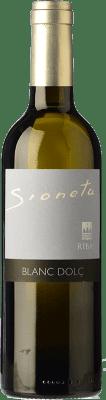 22,95 € Envío gratis | Vino dulce Ribas Sioneta I.G.P. Vi de la Terra de Mallorca Islas Baleares España Moscatel Grano Menudo Media Botella 50 cl