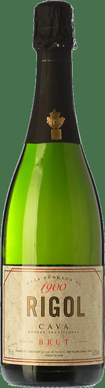4,95 € Free Shipping | White sparkling Rigol Brut Joven D.O. Cava Catalonia Spain Macabeo, Xarel·lo, Parellada Bottle 75 cl