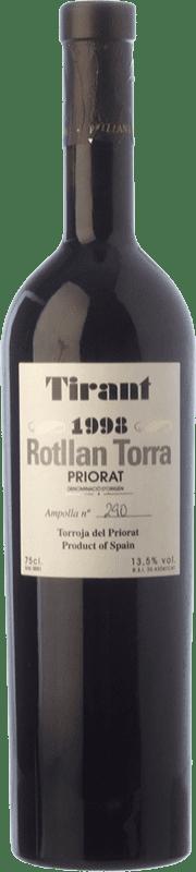 39,95 € Envío gratis | Vino tinto Rotllan Torra Tirant Crianza D.O.Ca. Priorat Cataluña España Merlot, Syrah, Garnacha, Cabernet Sauvignon, Cariñena Botella 75 cl