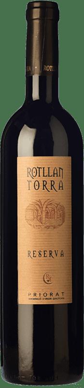 9,95 € Envío gratis | Vino tinto Rotllan Torra Reserva D.O.Ca. Priorat Cataluña España Garnacha, Cabernet Sauvignon, Cariñena Botella 75 cl