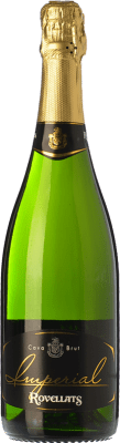 11,95 € Free Shipping | White sparkling Rovellats Imperial Brut Reserva D.O. Cava Catalonia Spain Macabeo, Xarel·lo, Parellada Bottle 75 cl | Thousands of wine lovers trust us to get the best price guarantee, free shipping always and hassle-free shopping and returns.