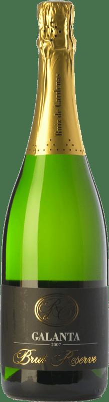 12,95 € Free Shipping | White sparkling Ruiz de Cardenas Galanta Riserva Brut Reserva D.O.C.G. Oltrepò Pavese Metodo Classico Lombardia Italy Pinot Black, Chardonnay Bottle 75 cl