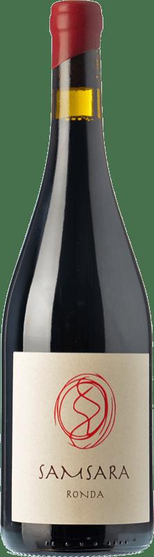 36,95 € Free Shipping | Red wine Samsara Ronda Crianza D.O. Sierras de Málaga Andalusia Spain Petit Verdot Bottle 75 cl