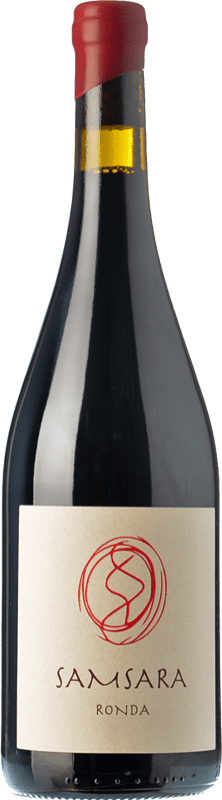 36,95 € Envío gratis | Vino tinto Samsara Ronda Crianza D.O. Sierras de Málaga Andalucía España Petit Verdot Botella 75 cl