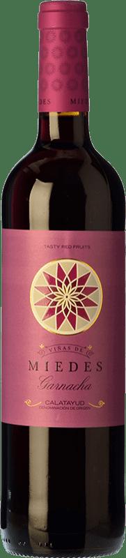 4,95 € Envío gratis | Vino tinto San Alejandro Viñas de Miedes Joven D.O. Calatayud Aragón España Garnacha Botella 75 cl