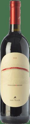 49,95 € Free Shipping | Red wine San Felice Poggio Rosso Riserva Reserva D.O.C.G. Chianti Classico Tuscany Italy Sangiovese, Colorino, Pugnitello Bottle 75 cl