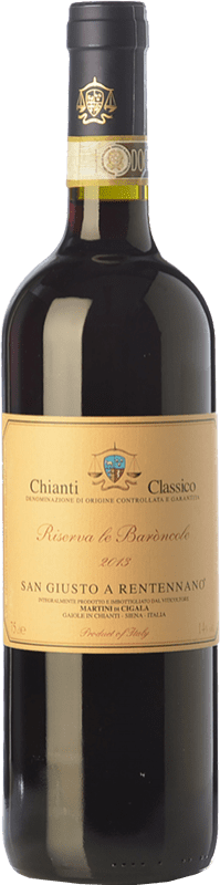 27,95 € Envoi gratuit | Vin rouge San Giusto a Rentennano Le Baròncole D.O.C.G. Chianti Classico Toscane Italie Sangiovese, Canaiolo Noir Bouteille 75 cl