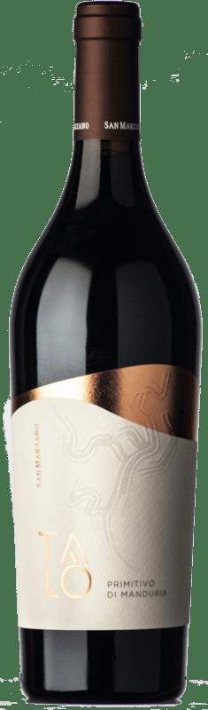 13,95 € Envío gratis | Vino tinto San Marzano Talò D.O.C. Primitivo di Manduria Puglia Italia Primitivo Botella 75 cl