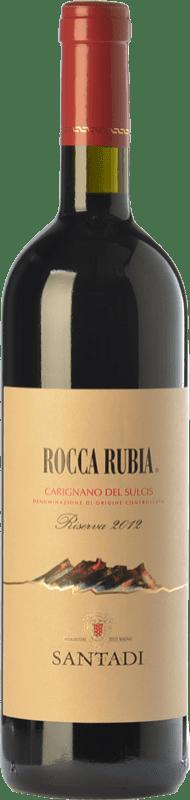 19,95 € Envío gratis | Vino tinto Santadi Riserva Rocca Rubia Reserva D.O.C. Carignano del Sulcis Sardegna Italia Cariñena Botella 75 cl