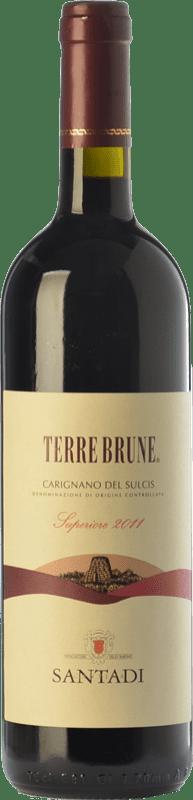 38,95 € Free Shipping   Red wine Santadi Carignano del Sulcis Superiore Terre Brune D.O.C. Carignano del Sulcis Sardegna Italy Carignan, Bobal Bottle 75 cl