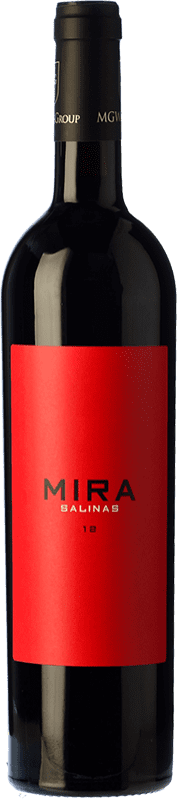 12,95 € Free Shipping | Red wine Sierra Salinas Mira Crianza D.O. Alicante Valencian Community Spain Cabernet Sauvignon, Monastrell, Grenache Tintorera, Petit Verdot Bottle 75 cl