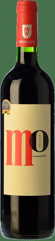 6,95 € Envío gratis | Vino tinto Sierra Salinas Mo Monastrell Joven D.O. Alicante Comunidad Valenciana España Syrah, Cabernet Sauvignon, Monastrell, Garnacha Tintorera Botella 75 cl