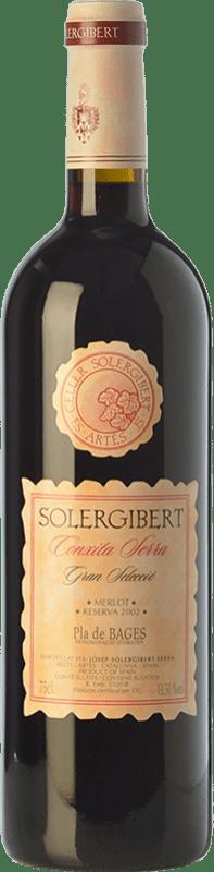 14,95 € Free Shipping | Red wine Solergibert Conxita Gran Reserva D.O. Pla de Bages Catalonia Spain Merlot Bottle 75 cl