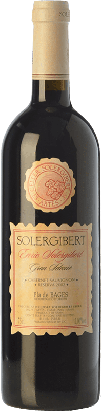 14,95 € Envoi gratuit | Vin rouge Solergibert Enric Gran Reserva D.O. Pla de Bages Catalogne Espagne Cabernet Sauvignon, Cabernet Franc Bouteille 75 cl