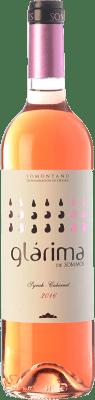 4,95 € Kostenloser Versand | Rosé-Wein Sommos Glárima Joven D.O. Somontano Aragón Spanien Syrah, Cabernet Sauvignon Flasche 75 cl