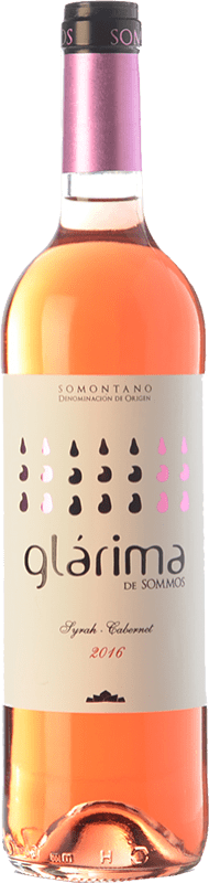4,95 € Envío gratis | Vino rosado Sommos Glárima Joven D.O. Somontano Aragón España Syrah, Cabernet Sauvignon Botella 75 cl