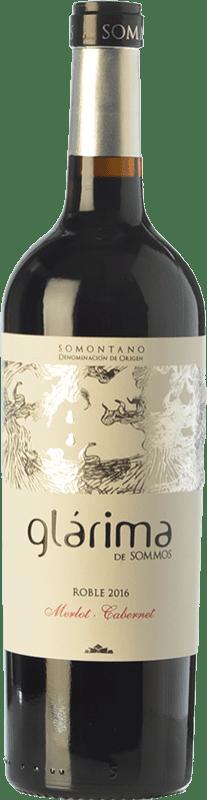 6,95 € Free Shipping | Red wine Sommos Glárima Roble D.O. Somontano Aragon Spain Tempranillo, Merlot, Cabernet Sauvignon Bottle 75 cl