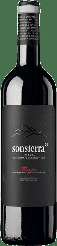 7,95 € Free Shipping | Red wine Sonsierra Vendimia Seleccionada Crianza D.O.Ca. Rioja The Rioja Spain Tempranillo Bottle 75 cl