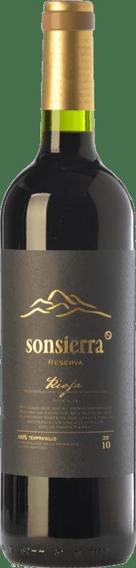 12,95 € Envoi gratuit | Vin rouge Sonsierra Reserva D.O.Ca. Rioja La Rioja Espagne Tempranillo Bouteille 75 cl
